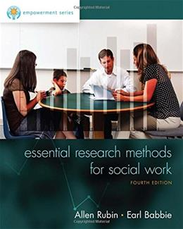 Essential Research Methods for Social Work 4 9781305101685