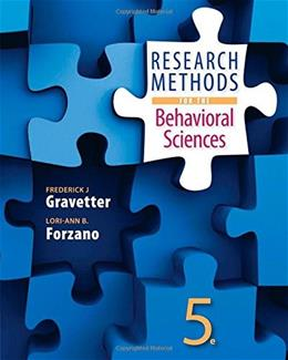 Research Methods for the Behavioral Sciences 5 9781305104136