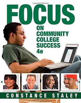 FOCUS on Community College Success (Cengage Learning's FOCUS Series) 4 9781305109575