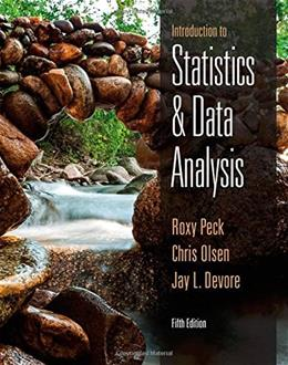 Introduction to Statistics and Data Analysis 5 9781305115347