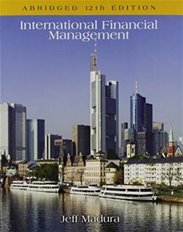 International Financial Management, Abridged 12 9781305117228