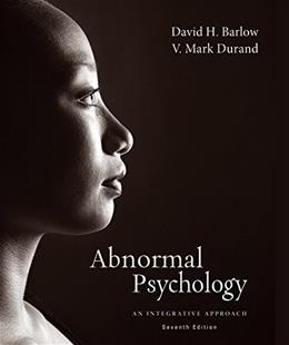 Abnormal Psychology: An Integrative Approach, by Barlow, 7th Cengage Advantage Edition 7 PKG 9781305136144