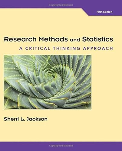 Research Methods and Statistics: A Critical Thinking Approach 5 9781305257795
