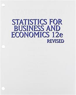 Statistics for Business & Economics, Revised, Loose-leaf Version 12 9781305264335