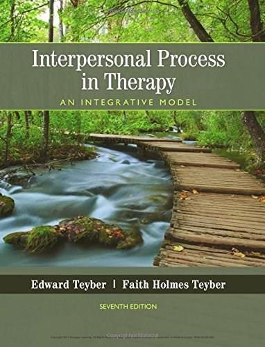 Interpersonal Process in Therapy: An Integrative Model 7 9781305271531