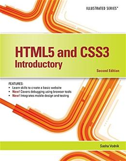 HTML5 and CSS3, Illustrated Introductory, by Vodnik, 2nd Edition 9781305394056
