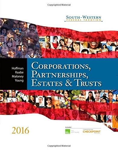 South-Western Federal Taxation 2016: Corporations, Partnerships, Estates & Trusts (Corporations, Partnerships, Estates and Trusts) BK w/CD 9781305399884