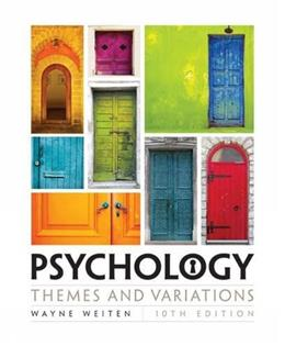 Psychology: Themes and Variations 10 9781305498204