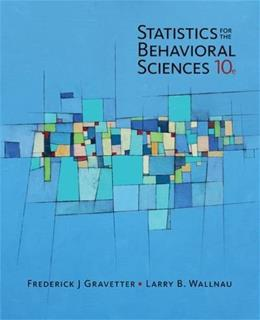 Statistics for The Behavioral Sciences (MindTap for Psychology) 10 9781305504912