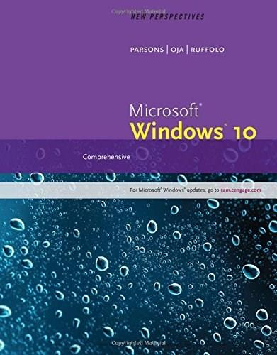 New Perspectives Microsoft Windows 10: Comprehensive, by Ruffolo 9781305579385
