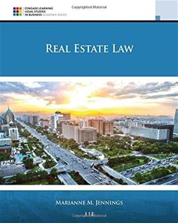 Real Estate Law, by Jennings, 11th Edition 9781305579910