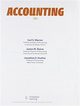 Bundle: Accounting, Loose-Leaf Version, 26th + CengageNOWv2, 2 term Printed Access Card 26 PKG 9781305617063