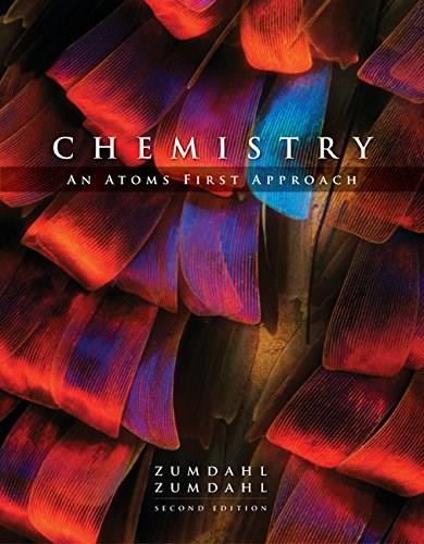 Chemistry: An Atoms First Approach, by Zumdahl, 2nd Edition 9781305632677