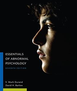Essentials of Abnormal Psychology, by Durand, 7th Edition 9781305633681