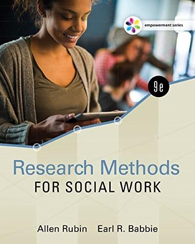 Empowerment Series: Research Methods for Social Work 9 9781305633827