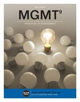 MGMT, by Williams, 9th Edition 9 PKG 9781305661592
