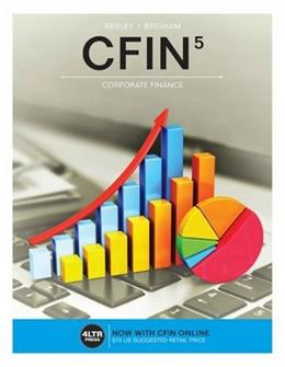 CFIN, by Besley, 5th Edition 9781305661653