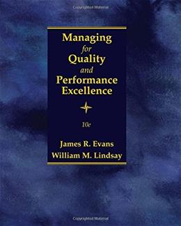 Managing for Quality and Performance Excellence 10 9781305662544