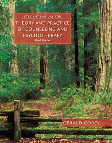 Theory and Practice of Counseling and Psychotherapy, by Corey 9781305664470