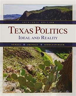 Bundle: Texas Politics: Ideal and Reality, 2015-2016, Loose-leaf Version, 13th + MindTap Political Science, 1 term (6 months) Printed Access Card 9781305701106
