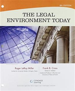 Legal Environment Today, by Miller, 8th Edition 8 PKG 9781305704930