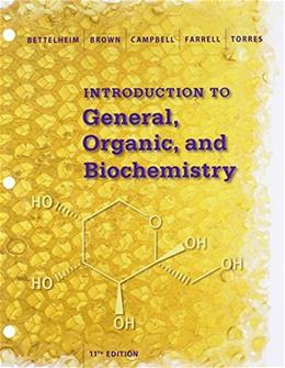 Introduction to General, Organic and Biochemistry, by Bettelheim, 11th Edition 11 PKG 9781305705159