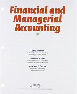 Bundle: Financial & Managerial Accounting, Loose-Leaf Version, 13th + LMS Integrated for CengageNOW™v2, 2 terms Printed Access Card 13 PKG 9781305720619
