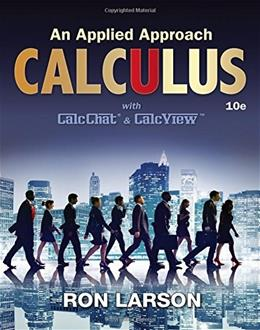 Calculus: An Applied Approach, by Larson, 10th Edition 9781305860919