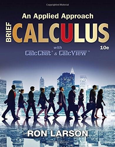 Calculus: An Applied Approach, by Larson, 10th Edition 9781305860926