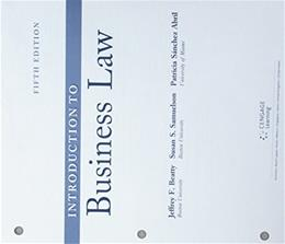 Cengage Advantage Book: Introduction to Business Law 5 9781305863941