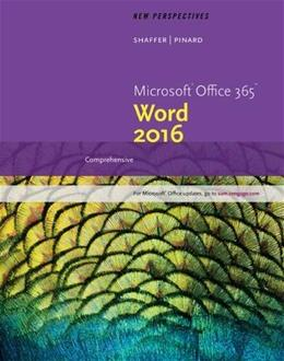 New Perspectives Microsoft Office 365 & Word 2016: Comprehensive 001 9781305880979