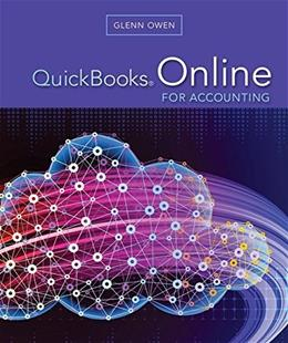 QuickBooks Online for Accounting, by Owen PKG 9781305950313