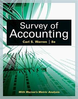 Survey of Accounting (Accounting I) 8 9781305961883
