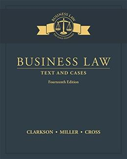 Business Law: Text and Cases 14 9781305967250