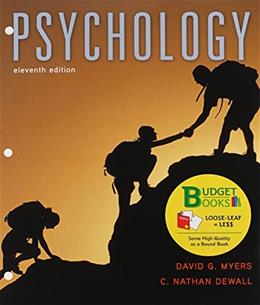 Psychology, by Myers, 11th Edition 11 PKG 9781319017064
