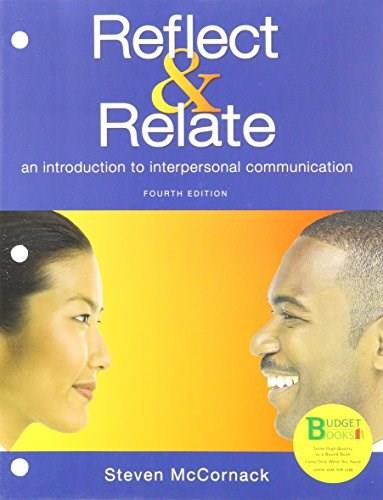 Reflect and Relate, by McCormick, 4th Edition 9781319019679