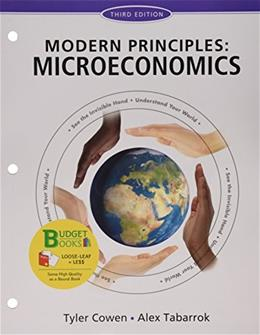 Modern Principles of Microeconomics, by Cowen, 3rd Edition 9781319036065