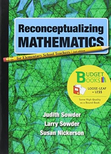 Reconceptualizing Mathematics, by Sowder, 2nd Edition 2 PKG 9781319040451