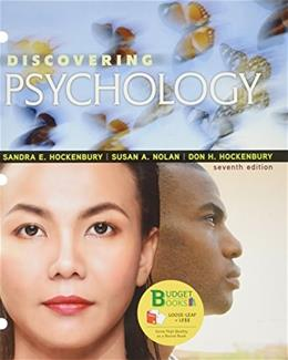 Discovering Psychology, by Hockenberry, 7th Edition 7 PKG 9781319061913