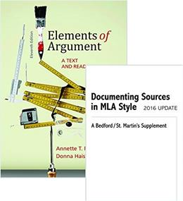 Elements of Argument, by Rottenberg,11th Edition 11 PKG 9781319084639