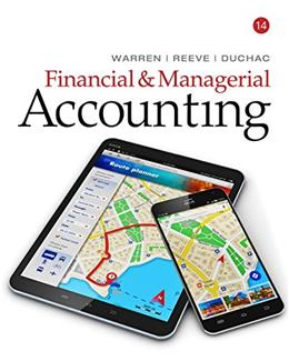 Financial and Managerial Accounting, by Warren, 14th Edition 9781337119207