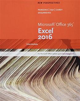 New Perspectives Microsoft Office 365 & Excel 2016: Intermediate, Loose-leaf Version 9781337251433