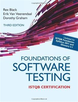 Foundations of Software Testing ISTQB Certification, by Veenendaal, 3rd Edition 9781408044056