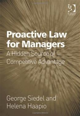 Proactive Law for Managers, by Siedel 9781409401001