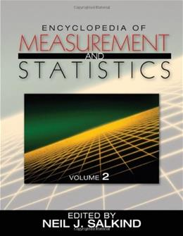 Encyclopedia of Measurement And Statistics, by Salkind, 3 VOLUME SET PKG 9781412916110