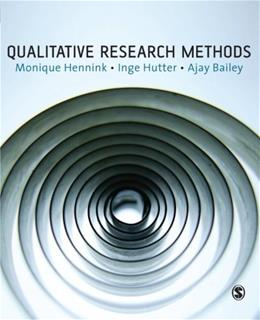 Qualitative Research Methods, by Hennink 9781412922265