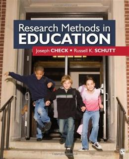 Research Methods in Education, by Check 9781412940092