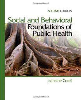 Social and Behavioral Foundations of Public Health 2 9781412957045