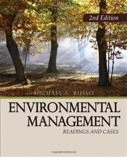 Environmental Management: Readings and Cases, by Russo, 2nd Edition 9781412958493