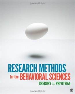 Research Methods for the Behavioral Sciences 1 9781412975117